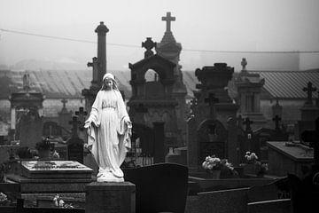 Begraafplaats in Stavelot (Ardennen, België)