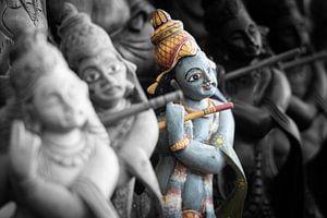 God Rama bespeelt fluit (duotone)