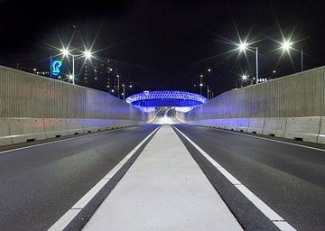 Eindhoven, Lichtprojekt Montgomerylaan von Maurits van Hout