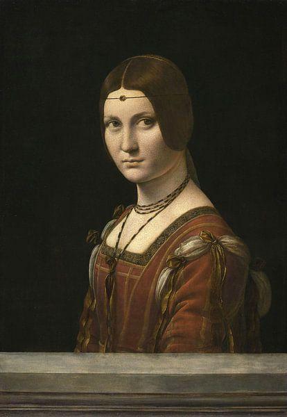 Porträt einer unbekannten Frau, Leonardo da Vinci von Meesterlijcke Meesters