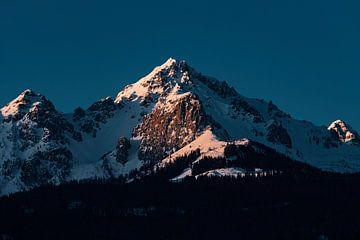 Zonsondergang op schitterende berg in de Oostenrijkse alpen van Hidde Hageman