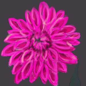 Darling Dahlia rose grijs