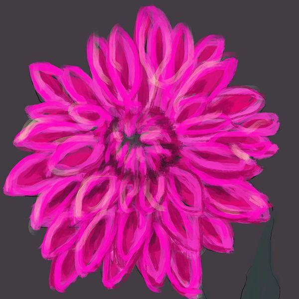 Darling Dahlia rose grijs van Go van Kampen