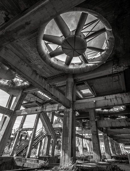 Fabrieksventilatoren Urbex van Olivier Van Cauwelaert