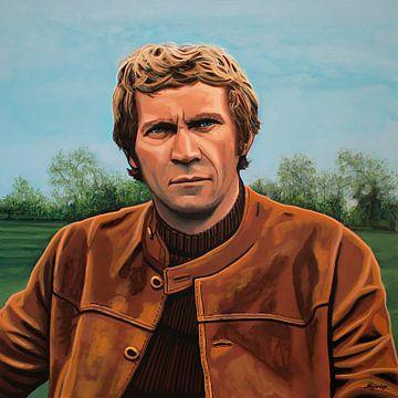Steve McQueen schilderij van Paul Meijering