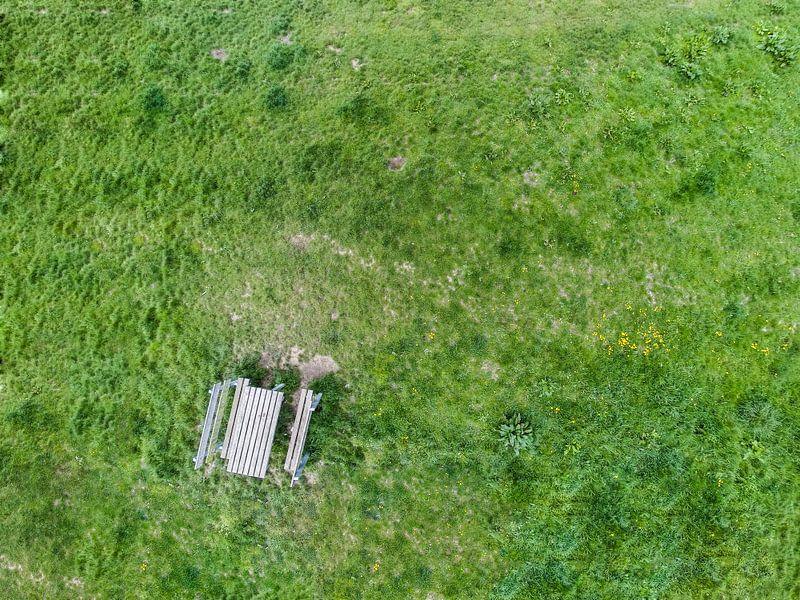 Picknick vanuit de lucht van Thomas van der Willik