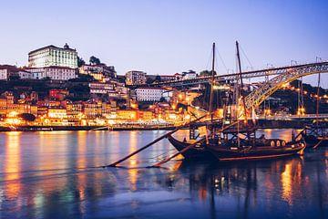 Porto - Skyline zur Blauen Stunde von Alexander Voss