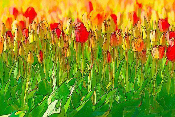 colorful flowers van eric van der eijk