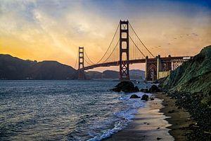 Golden Gate Bridge Coucher de soleil San Francisco sur VanEis Fotografie