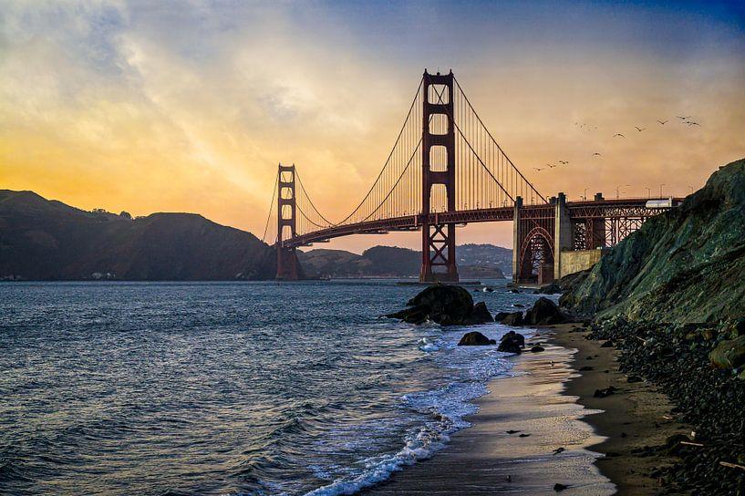 Golden Gate Bridge Sunset San Francisco van VanEis Fotografie
