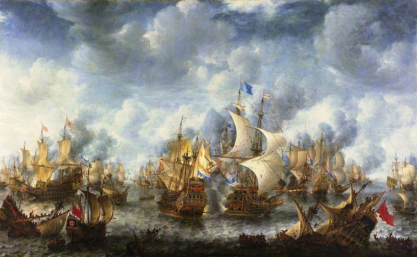 Jan Abrahamsz. Beerstraten. Slag bij Terheide sur 1000 Schilderijen