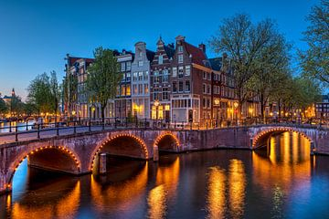 Ecke Keizersgracht Leidsegracht Amsterdam von Fotografie Ronald