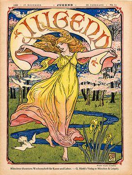 Tijdschriftomslag Jugend 17 December 1898 van Martin Stevens