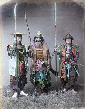 Drei alte Samurai auf Foto (2 von 2)