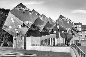 Architektur Helmond in Schwarz-Weiß - Kubus-Häuser von Marianne van der Zee