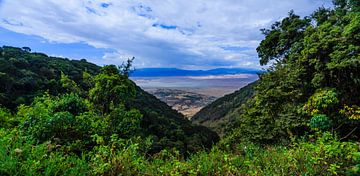 Nogorongoro krater in Tanzania van René Holtslag