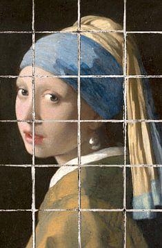 Meisje met de Parel - The Tiled Edition van Marja van den Hurk