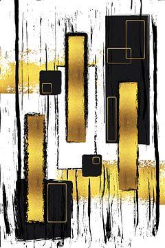 Abstrakte Malerei Nr. 50 | gold von Melanie Viola