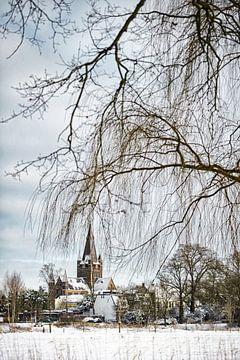Winterlandschap in Nederland van Chihong