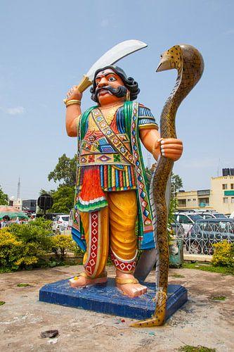 Demon Mahishasura Statue, Mysore van