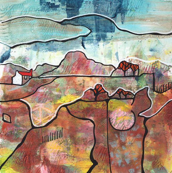 Saisonale Landschaft - Herbst von Ariadna de Raadt-Goldberg