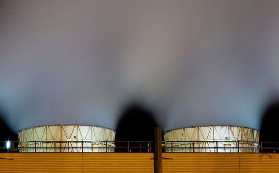 Nachtelijk werk Botlek Rotterdam