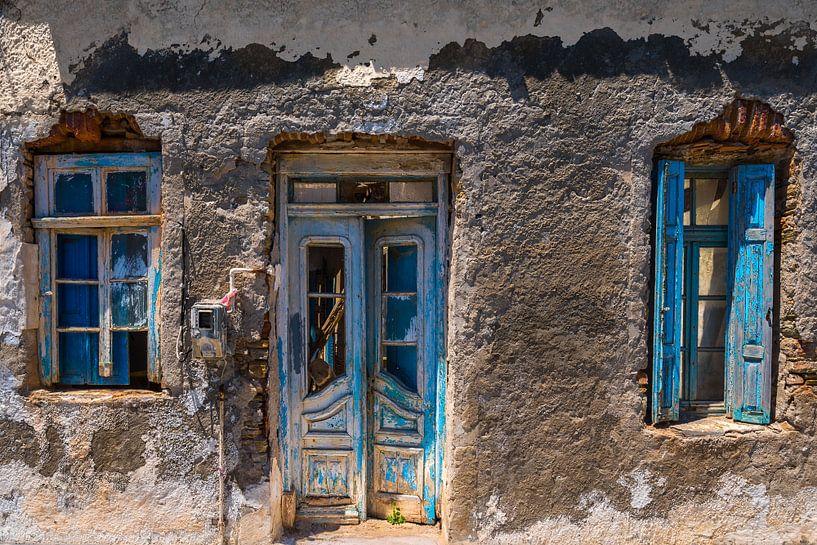Oude deur en ramen van Rinus Lasschuyt Fotografie