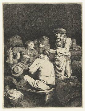 Hostess und Firma im Gasthaus, Cornelis Pietersz