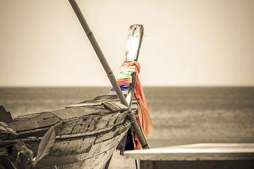 Thailändisches Boot Sepia Look