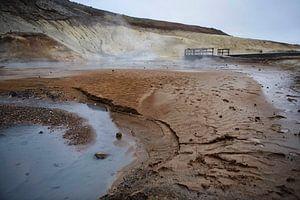 Sulfaatbronnen van Krysuvik IJsland van