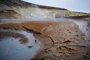 Sulfaatbronnen van Krysuvik IJsland van Ruud van der Lubben