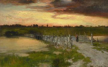 Thomas Moran~Die alte Brücke über den Hook Pond, East Hampton, Long Island