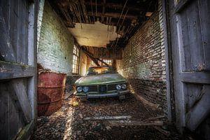 Verlaten BMW auto van