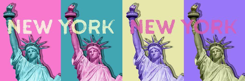 POP ART Statue of Liberty | New York New York | panorama van Melanie Viola