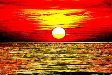 Rood gele zonsondergang von Geert Heldens