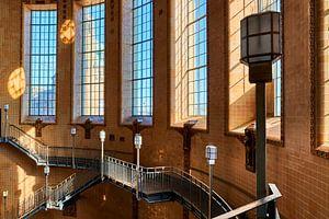 Cage d'escalier de l'ancien Elbtunnel à Hambourg