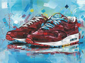 Nike Air Max 1 Patta x Parra 'Cherrywood' Gemälde von Jos Hoppenbrouwers