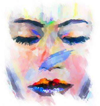 Die Träumerin -  abstrakt von Marion Tenbergen