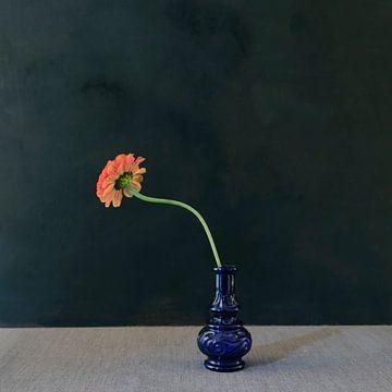 Rückseite Blume blaue Vase von Marion Kraus