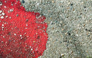 compositie in rood van Renée Teunis