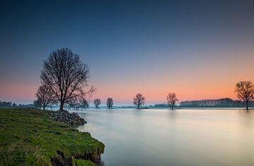 De Maas voor zonsopkomst van