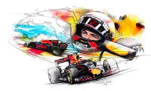 Max Verstappen - Spa Francorchamps van Martin Melis