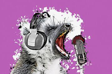 Singing Lemur II van Angela Dölling