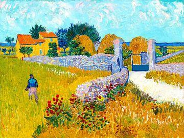 Bauernhaus in der Provence - Vincent van Gogh - 1888 von Jan Willem van Doesburg