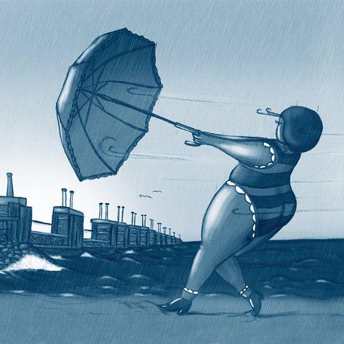 Vet Wuuf bij de Stormvloedkering van Bianca van Duijn