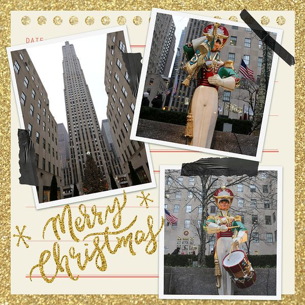 Frohe Weihnachten vom Rockefeller Plaza in NYC von Christine aka stine1