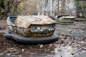 Botsauto op de kermis van Pripyat