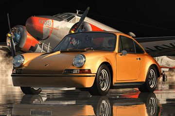 Porsche 911 orange Farbe von Jan Keteleer