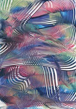 Gekleurde spiralen van Bethina de Reus