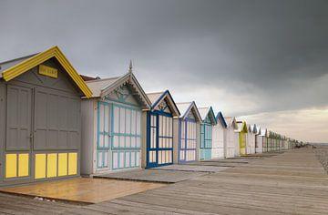 Strandhuisjes aan de Franse kust